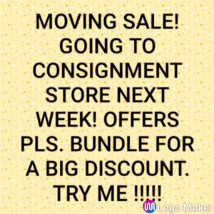 MOVING SALE, BUNDLE AND SAVE